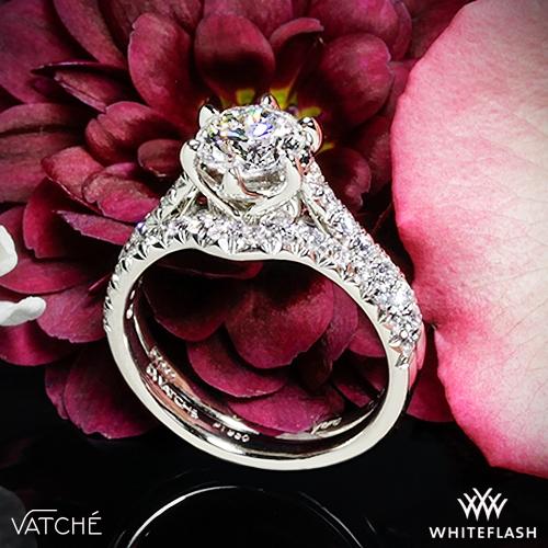 239c70ea61783 Vatche 1054 Swan French Pave Diamond Wedding Set | 3706