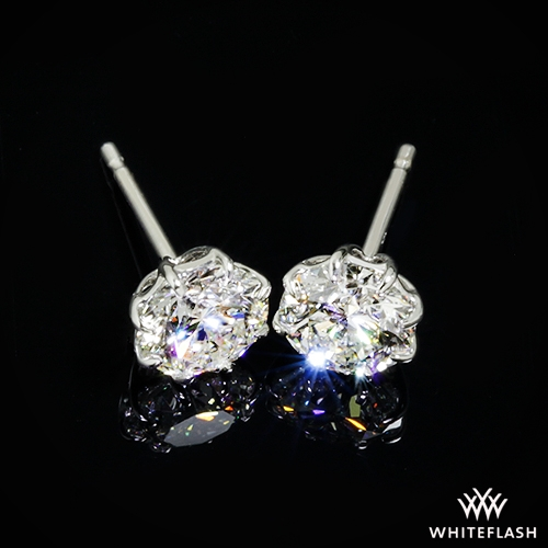 f06e90ee5 1.151ct J VS2 A CUT ABOVE Round Diamond set in 8-Prong Martini Diamond  Earrings
