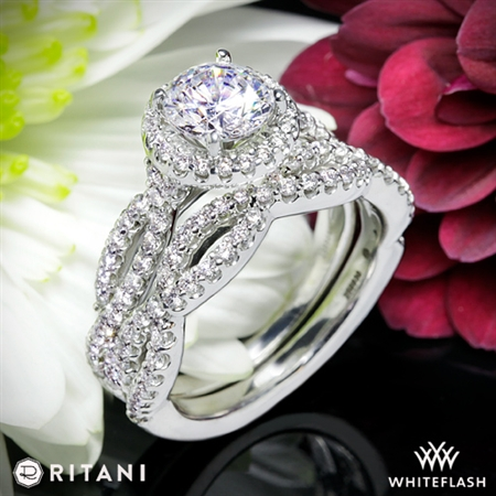 Ritani 1RZ1318 Diamond Wedding Set