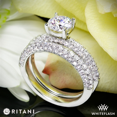 Ritani 1RZ1340 Diamond Wedding Set