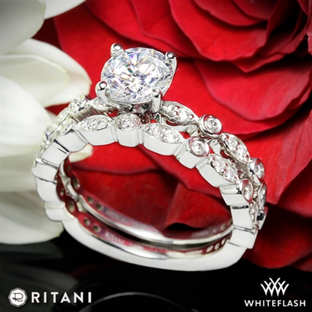 Ritani 1RZ1503 Diamond Wedding Set