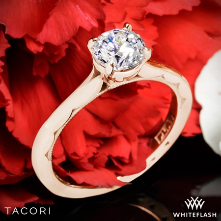 Tacori 50RD Sculpted Crescent Solitaire Engagement Ring