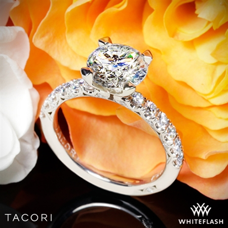 Tacori HT2545 Petite Crescent Scalloped Millgrain Diamond Engagement Ring