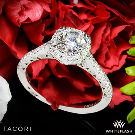 Tacori HT2547 Petite Crescent Celestial Diamond Engagement Ring