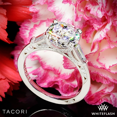 Tacori HT2657 Royal T Simply Tacori Three Stone Diamond Engagement Ring