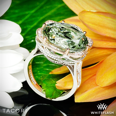 Tacori SR106P12 Seafoam Mint Prasiolite and Diamond Ring