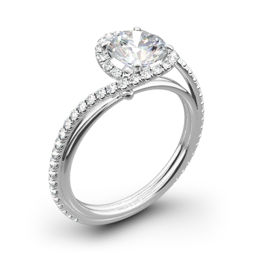 Danhov AE165 Abbraccio Diamond Engagement Ring