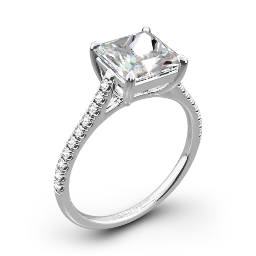 Danhov CL138-PR Classico Single Shank Diamond Engagement Ring for Princess