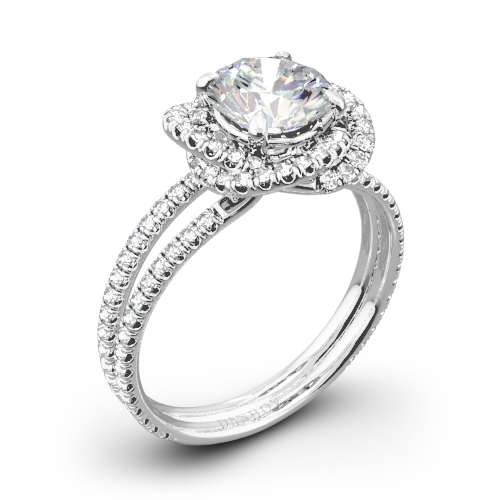 Danhov SE100Q Solo Filo Double Shank Diamond Engagement Ring
