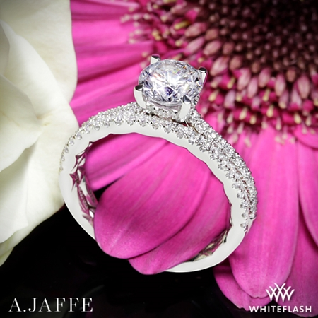 A. Jaffe ME2029Q Classics Diamond Wedding Set
