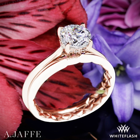 A. Jaffe ME2211Q Solitaire Wedding Set