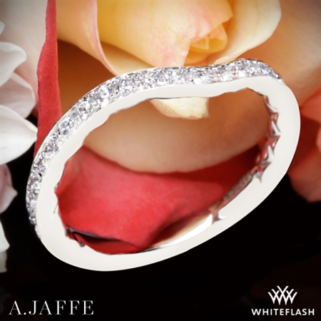 A. Jaffe MR2256Q Diamond Wedding Ring