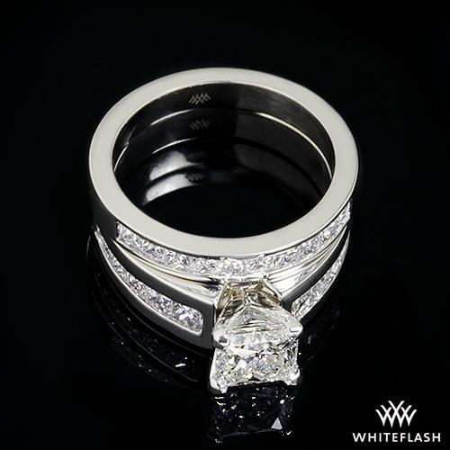 d1fd4f3ca Princess Channel-Set Diamond Wedding Ring Set