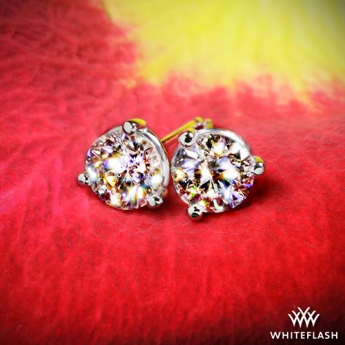 95b037330 0.658ct J VS2 A CUT ABOVE Round Diamond set in 3 prong Martini Diamond  Earrings