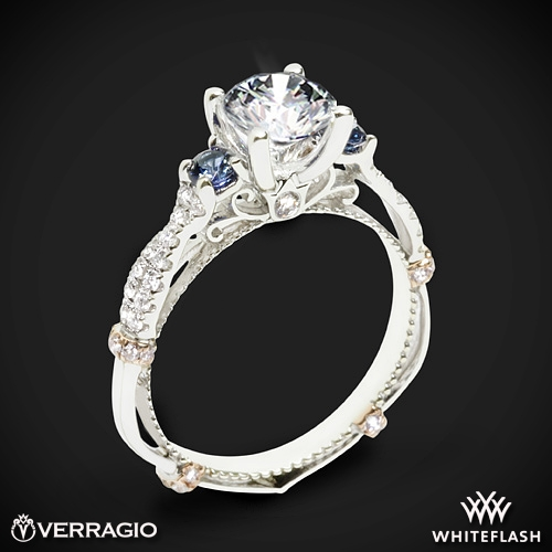 Verragio CL-DL-129R Twisted Sapphire Three Stone Engagement Ring