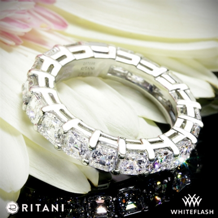 Ritani Asscher Diamond Full Eternity Right Hand Ring