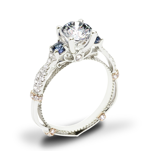 Verragio Parisian CL-DL-129R Twisted Sapphire Three Stone Engagement Ring