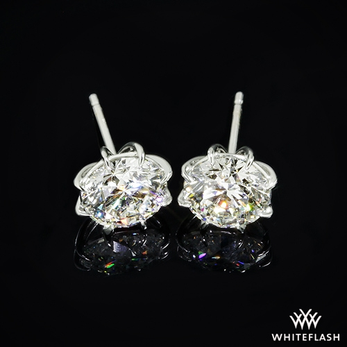 94bf82d63 1.898ct J SI1 A CUT ABOVE Round Diamond set in 8-Prong Martini Diamond  Earrings