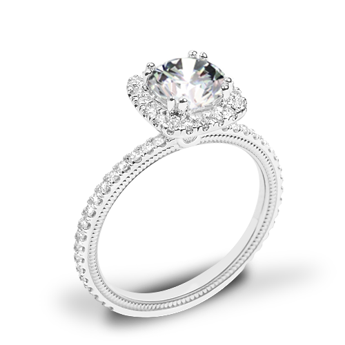 Verragio Tradition TR120HCU Diamond Cushion Halo Engagement Ring