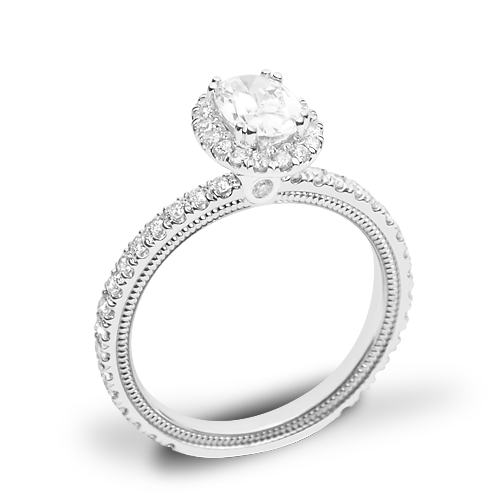 Verragio Tradition TR150HOV Diamond Oval Halo Engagement Ring