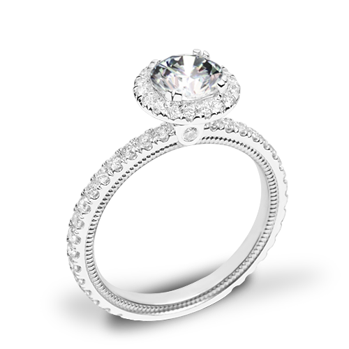 Verragio Tradition TR150HR Diamond Round Halo Engagement Ring