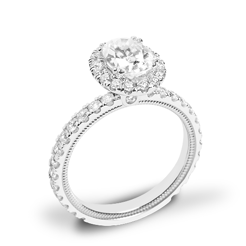 Verragio Tradition TR180HOV Diamond Oval Halo Engagement Ring