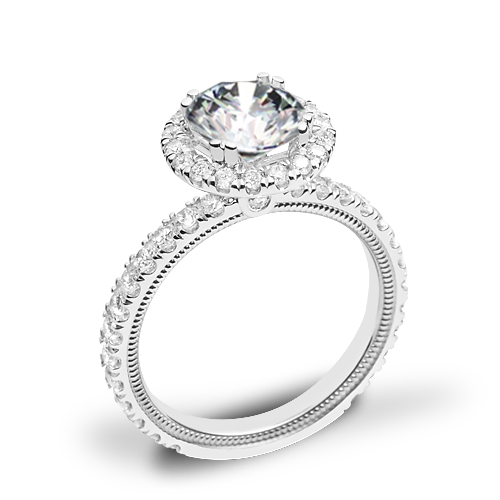 Verragio Tradition TR180HR Diamond Round Halo Engagement Ring