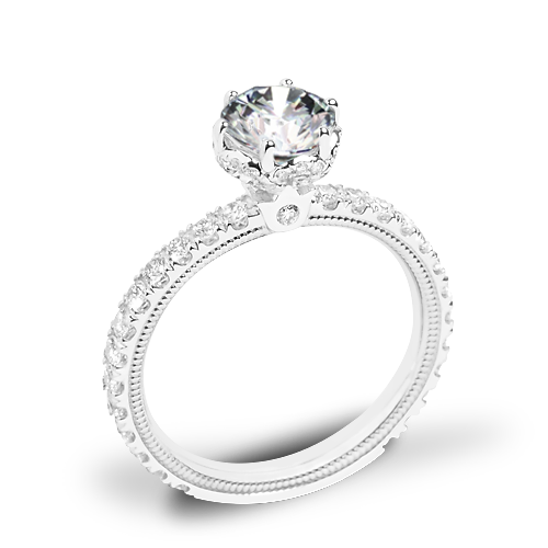 Verragio Tradition TR180TR Diamond 6 Prong Tiara Engagement Ring