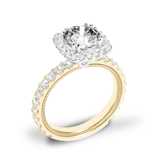 Verragio Tradition TR210HCU Diamond Cushion Halo Engagement Ring