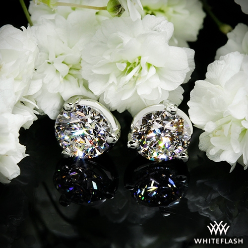 e1dafe435 0.605ct G VS1 A CUT ABOVE Round Diamond set in 3 prong Martini Diamond  Earrings