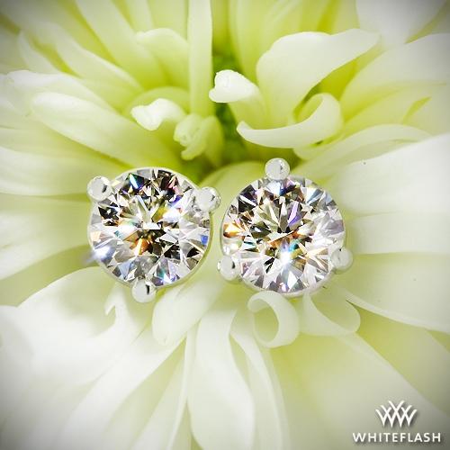 47a2bb707 0.637ct J VS1 A CUT ABOVE Round Diamond set in 3 prong Martini Diamond  Earrings