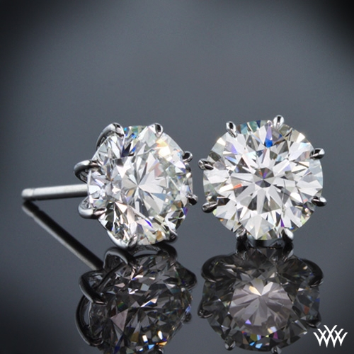 "8-Prong ""Martini"" Diamond Earrings"