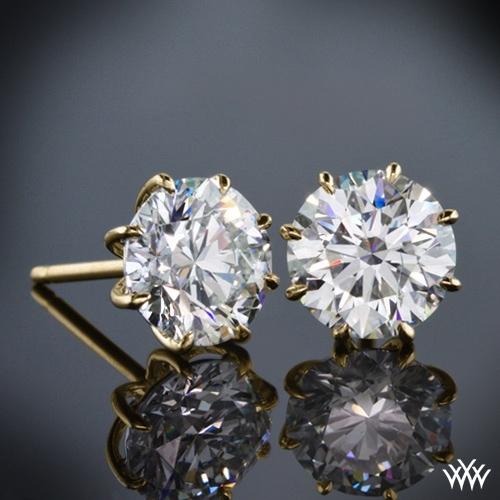 8-Prong Martini Diamond Earrings