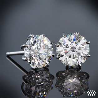 8-Prong Martini Diamond Earrings