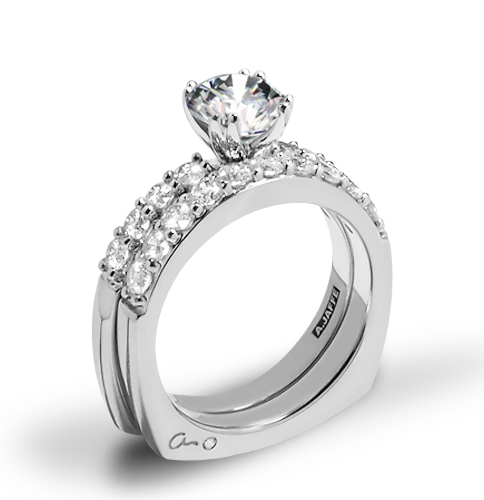 A. Jaffe MES078 Classics Diamond Wedding Set