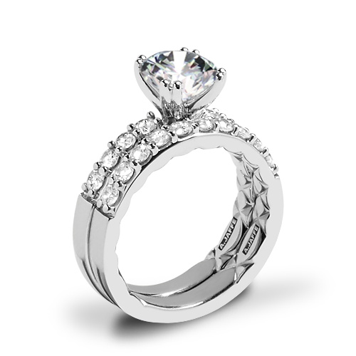 A. Jaffe ME1401Q Classics Diamond Wedding Set