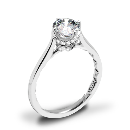 A. Jaffe ME1846Q Art Deco Solitaire Engagement Ring