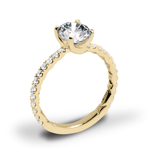 A. Jaffe ME1850Q Classics Diamond Engagement Ring