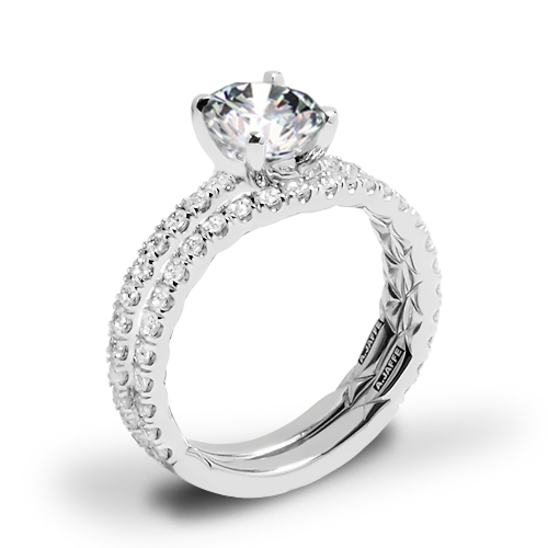 A. Jaffe ME1850Q Classics Diamond Wedding Set