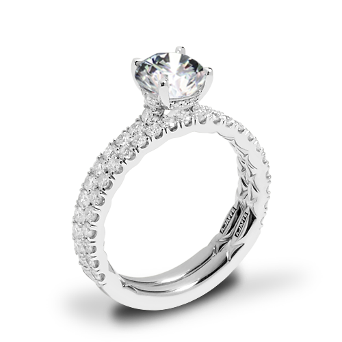 A. Jaffe ME1865Q Classics Diamond Wedding Set