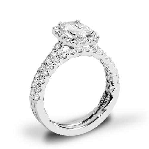 A. Jaffe ME2051Q Seasons of Love Halo Diamond Wedding Set
