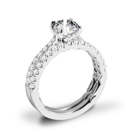 A. Jaffe ME2141Q Diamond Wedding Set