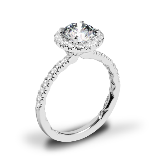 A. Jaffe ME2167Q Classics Halo Diamond Engagement Ring