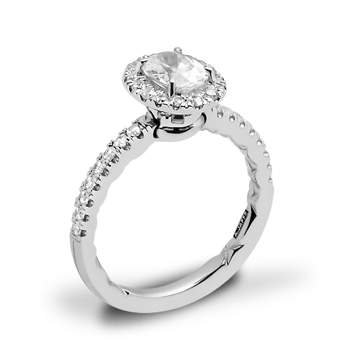 A. Jaffe ME2264Q Pirouette Halo Diamond Engagement Ring