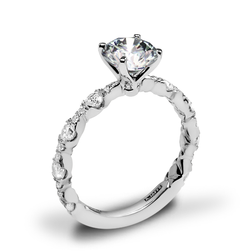 A. Jaffe ME2303Q Diamond Engagement Ring
