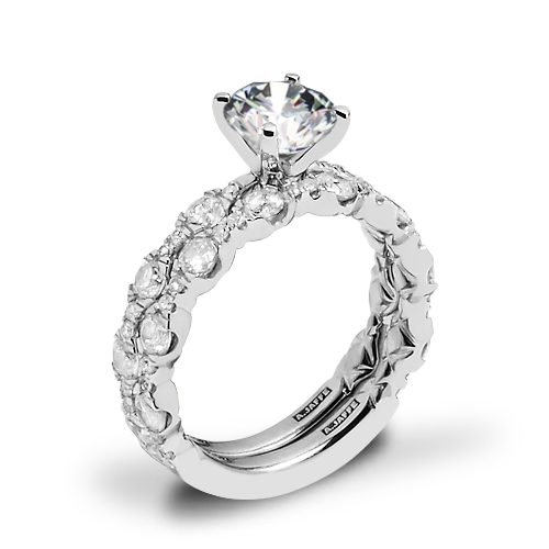 A. Jaffe ME2303Q Diamond Wedding Set