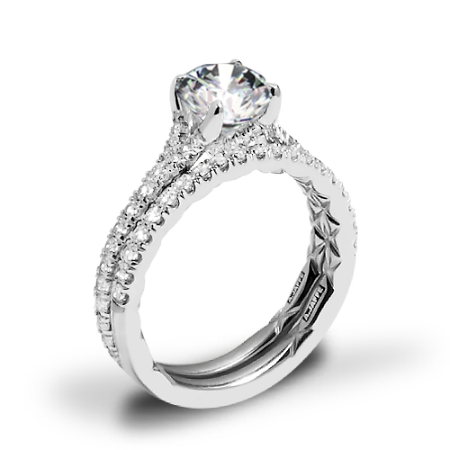 A. Jaffe ME3001QB Diamond Wedding Set