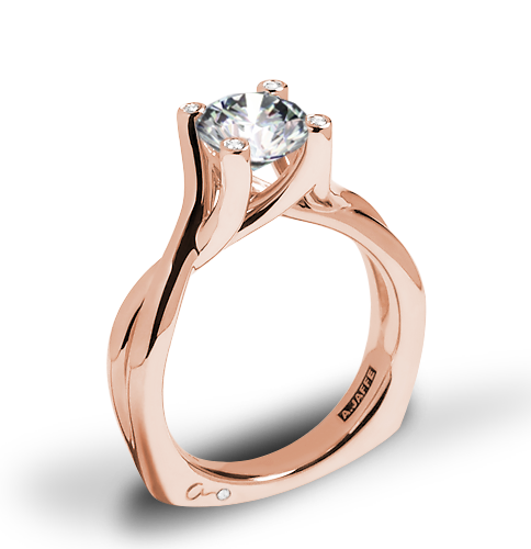 A. Jaffe MES463 Seasons of Love Solitaire Engagement Ring