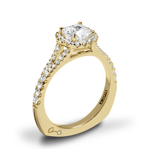 A. Jaffe MES576 Metropolitan Halo Diamond Engagement Ring
