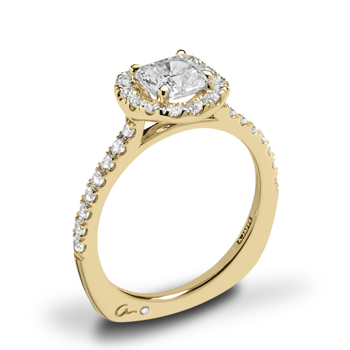A. Jaffe MES577 Metropolitan Halo Diamond Engagement Ring
